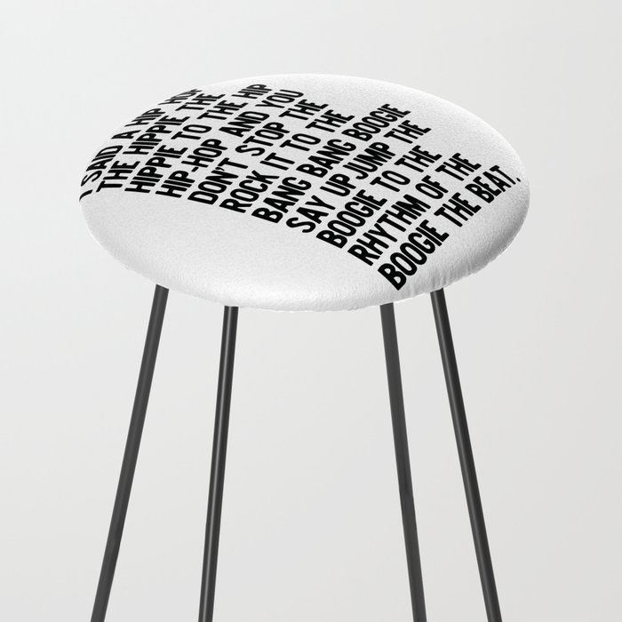RAPPERS DELIGHT Hip Hop CLASSIC MUSIC Counter Stool