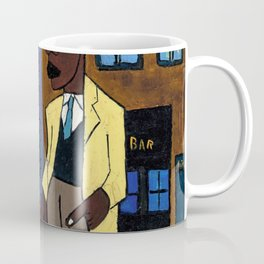 African American Masterpiece 'Street Life, Harlem' by William Johnson Coffee Mug