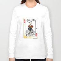 cincinnati Long Sleeve T-shirts featuring Queen of Cincinnati Bike Print by Jeni Jenkins | Uncaged Bird Studio