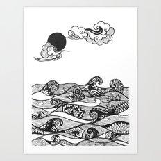 Swirly Water Art Print