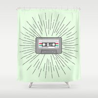 tape Shower Curtains featuring Tape by Colleen Sweeney