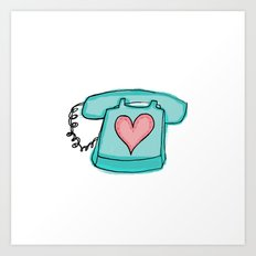 Long Distance Love Art Print