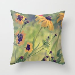 Golden Garden Throw Pillow