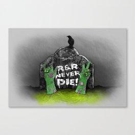 Rock & Roll Never die! Canvas Print