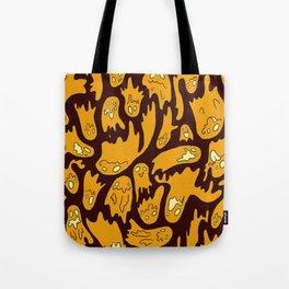 Orange Ghosties Tote Bag