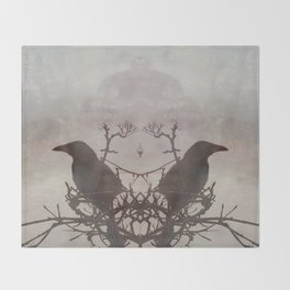 Hugin & Munin Throw Blanket