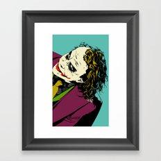 Joker So Serious Framed Art Print