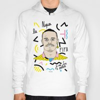 brasil Hoodies featuring FIFA - BRASIL  by 13pulsions