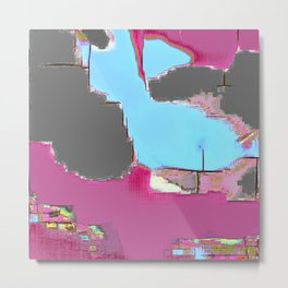 Abstract #13 in Pink Metal Print