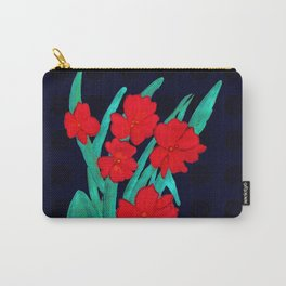 Red flowers gladiolus art nouveau style Carry-All Pouch
