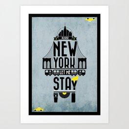 New York prayer Art Print
