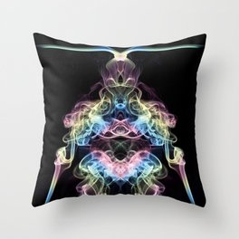 Rainbow Alien Throw Pillow