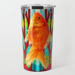 Golden Fish Travel Mug