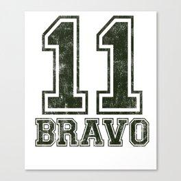 11 Bravo - US Infantry product - U.S. Military designs Canvas Print