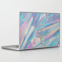 hologram Laptop & iPad Skins featuring I LIVE IN A HOLOGRAM WITH YOU... by Beauty Killer Art