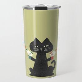 Ray gun cat Travel Mug