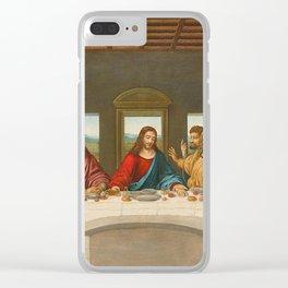 The Last Supper By Leonardo Da Vinci Clear iPhone Case
