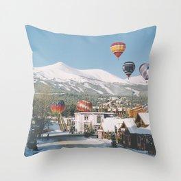 Balloons over Breckenridge, Colorado Throw Pillow