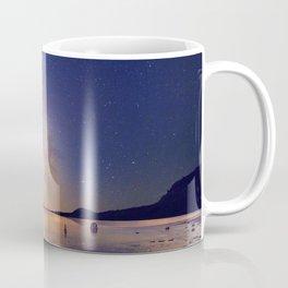 Lakeside sky and boat Coffee Mug
