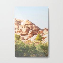 312. Mountain and Green, Petra, Jordanie Metal Print