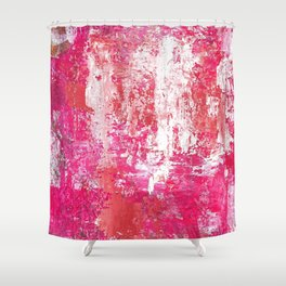 Roses Play Color On Ice Shower Curtain