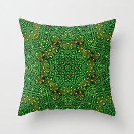 Orange Yellow and Green Kaldeidoscope 4 Throw Pillow