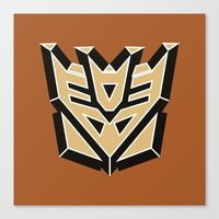 transformers Canvas Prints featuring Transformers by FilmsQuiz