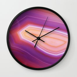 Purple Striped Agate Wall Clock