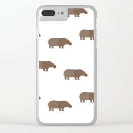 Hippos all around Clear iPhone Case