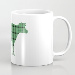 Cow: Green Plaid Coffee Mug