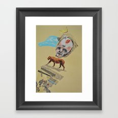 the king Framed Art Print