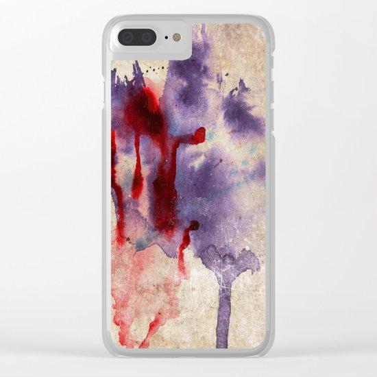 Purple Color Splash Clear iPhone Case