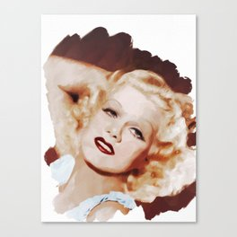 Jean Harlow, Actress Canvas Print