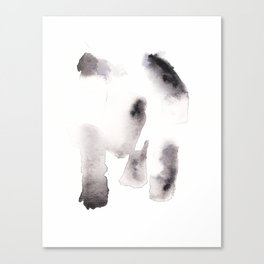 150527 Watercolour Shadows Abstract 162 Canvas Print