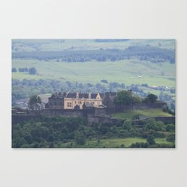 Stirling Castle from a distance Canvas Print