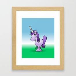 Purple Unicorn Framed Art Print