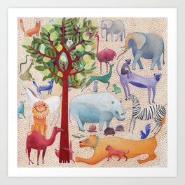 Animal forest Art Print