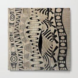 Lines Waves Metal Print