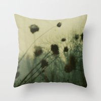dark souls Throw Pillows featuring Lost Souls by Olivia Joy StClaire