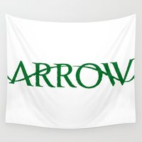arrow Wall Tapestries featuring Arrow by ahusin