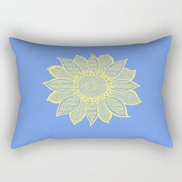 Sunflower Blue Rectangular Pillow
