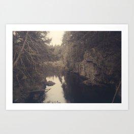 Beyond the ridge Art Print