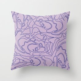 Pastel Pattern II Throw Pillow