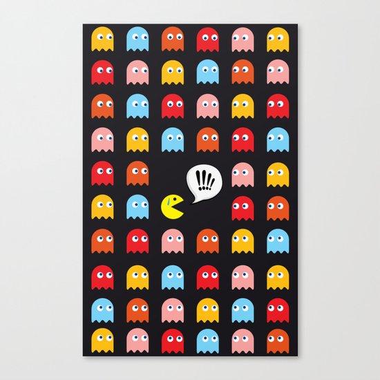 Pac-Man Trapped Canvas Print