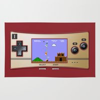 gameboy Area & Throw Rugs featuring Gameboy Micro Classic by alifart