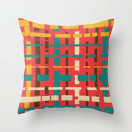 Colorful line segments Throw Pillow