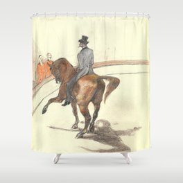"Henri de Toulouse-Lautrec ""At the Circus: The Spanish Walk"" Shower Curtain"