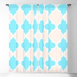 Quatrefoil - cream and arctic Blackout Curtain
