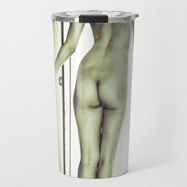0092 Boyish Tall Brunette Nude Travel Mug
