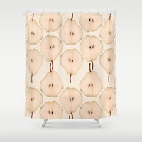 pear Shower Curtains featuring Pear by Colocolo Design | www.colocolodesign.de